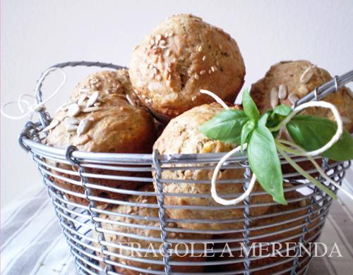 Muffins alle melanzane e basilico