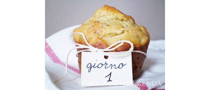 Muffins ai semi tostati, indivia e cipolle di Tropea