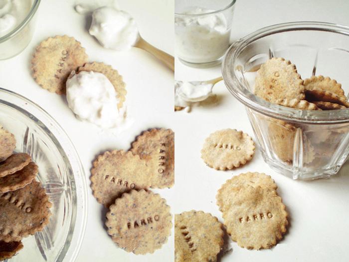 Crackers di farro ai semi di papavero