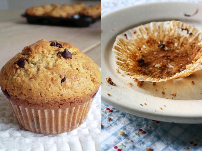 Muffins allo yogurt e cioccolato (ricetta)