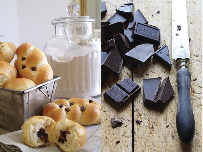 Pane e cioccolata (brioches al cioccolato di Sabrine d'Aubergine)