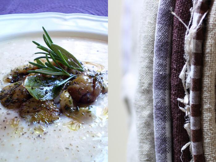 Vellutata di fagioli con castagne