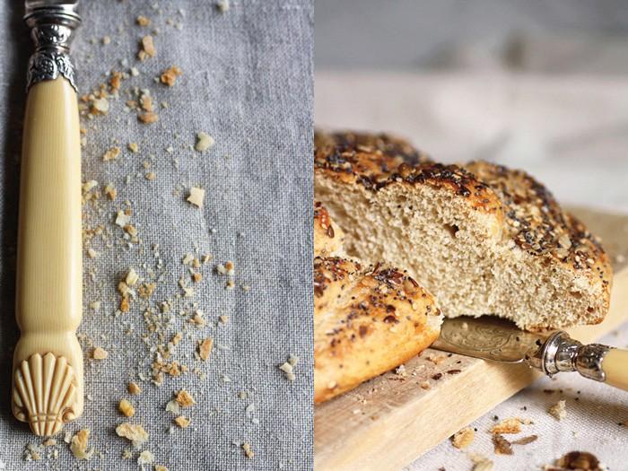 pane di segale e semi con copertura croccante