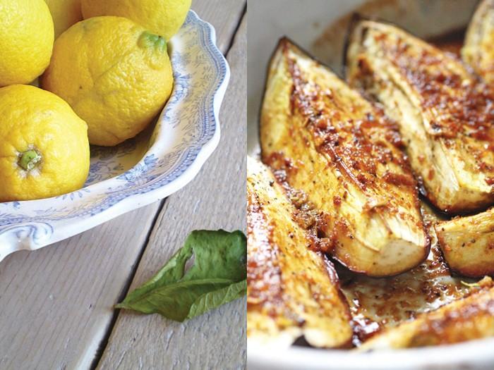 Melanzane al limone, miele e curry