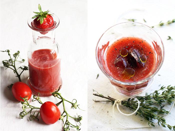 POmodori, fragole, basilico: tutto in un cicchetto!