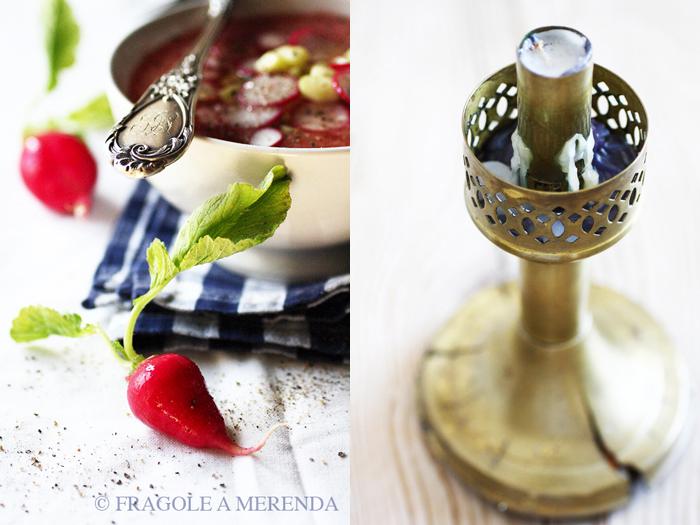 Gazpacho di anguria, cetrioli e ravanelli