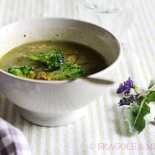 Vellutata di broccoli e acciughe