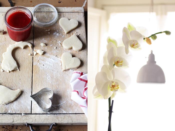 gelatina di fragole, biscotti e... orchidee!
