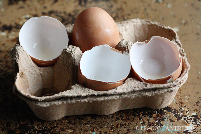 Uova nella cucina di FRAGOLE A MERENDA