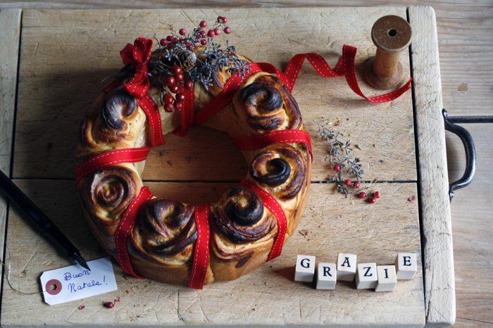 Finalmente Natale! E una ghirlanda di pane...